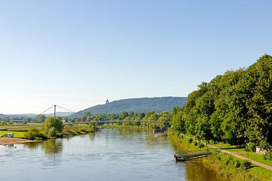Minden an der Weser mit der Porta Westfalica