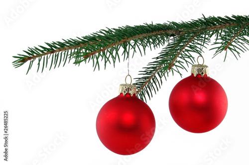 weihnachtskugeln an tannenzweig stockfotos und lizenzfreie bilder auf bild 26485225. Black Bedroom Furniture Sets. Home Design Ideas