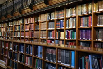 Door stickers Library public library interior