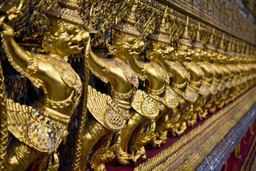 Golden garuda in grand palace, Bangkok