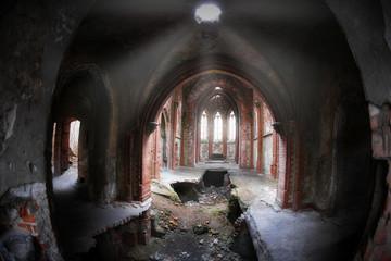 Interior of ancient castle