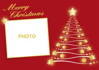 felicitación de navidad con árbol