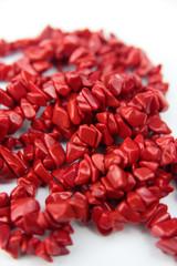 Collier en jaspe rouge, provenance Brésil