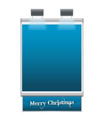 Cartello Natale Blu