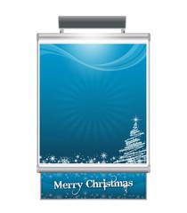 Manifesto Natale Blu