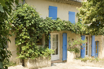 French Village House with window shutters France