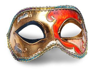 Carnival mask over white