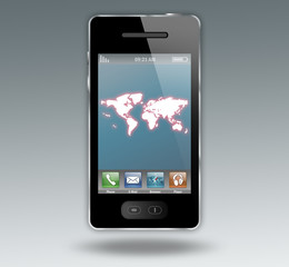 "Smartphone ""World Map"""