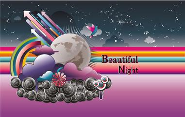 cielo nocturno en vector