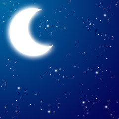 Moon at the night
