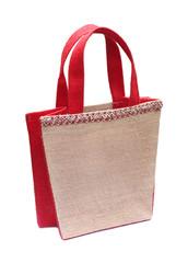 Bag of made of fabricated coarse fiber