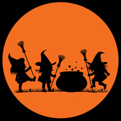Silhouette of a Witches
