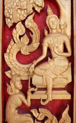 Buddhist art always seen on door of buddhist temple