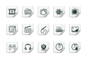 Media icons | Sticky series