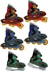 The complete set skates