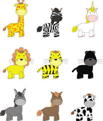 animal cartoon set pack