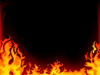 Wall Mural - Fire background