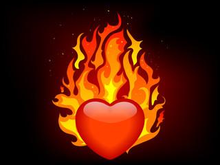 Fototapete - Blazing heart