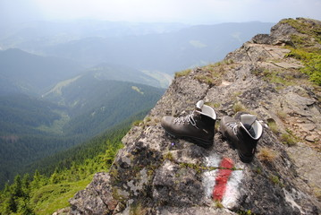 """Invisible hiker"" (hiking boots)"