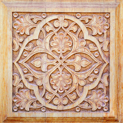 Traditional ornament on wood products
