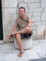 tourist in trogir