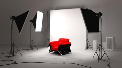 Studio et fauteuil