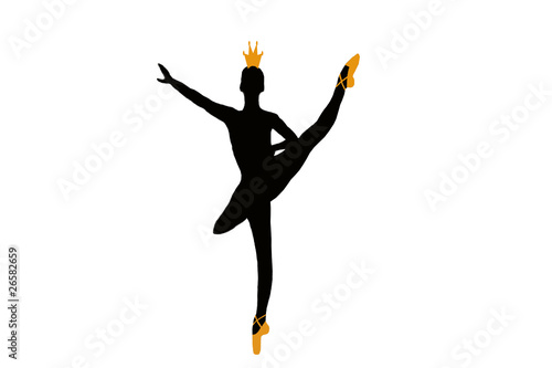 """""""bailarina Ballet Clasico En Parada De Punta Silueta"""