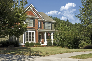 Front of New Modern House