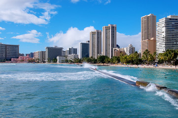 Waikiki beach, Hawaii , Oahu
