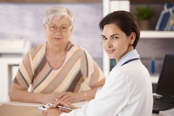 Portrait of doctor and senior patient