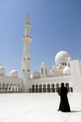 Abu Dhabi Dubai Arabian women at Sheikh Zayed Mosque
