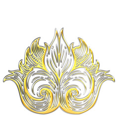 Ornament Gold-Silber 3