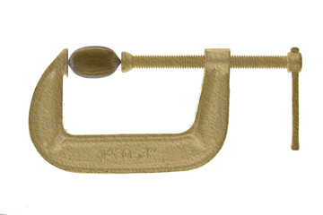 Pecan in gold C-clamp