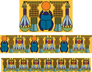 Egyptian ornament with a scarab.