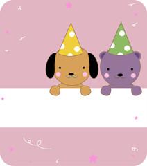 cute dog and bear