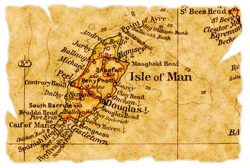 Isle of Man old map