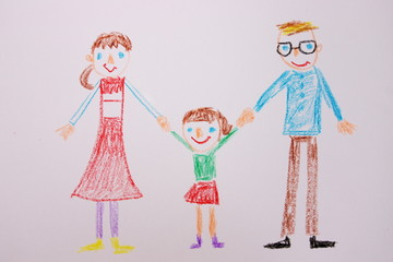 子供が書いた家族の絵
