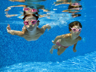 Two underwater girls