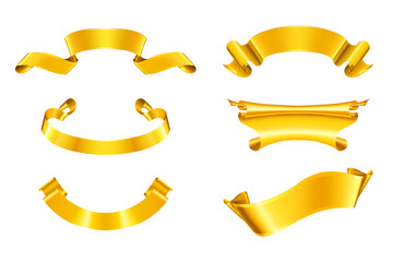 Gold ribbons, set