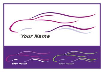 Icone Voiture Automobile en Violet pour Design Logo