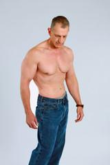 muscular senior man