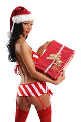 sexy Po mit Geschenk