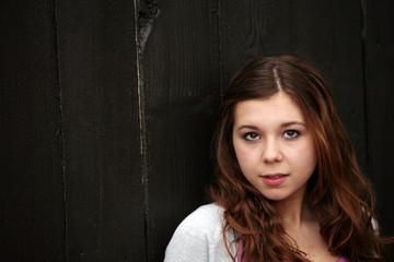 young teen girl outside