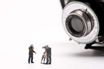 Kamerateam vor Kamera