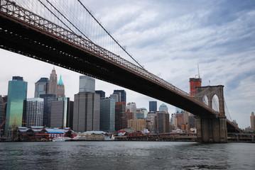Wall Mural - New York City skyline with Brooklyn bridge