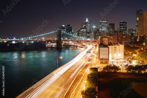 Wall mural Urban New York City night view