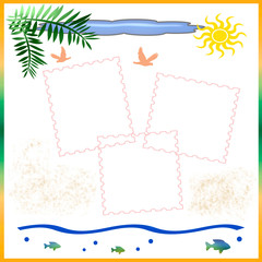 beach vacation scrapbook