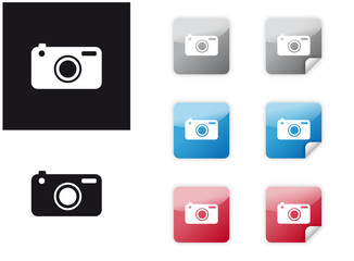Icon Set Kamera Digitalkamera DSLR SLR
