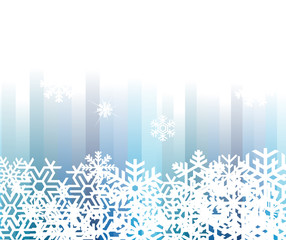 Snowflake winter vector background