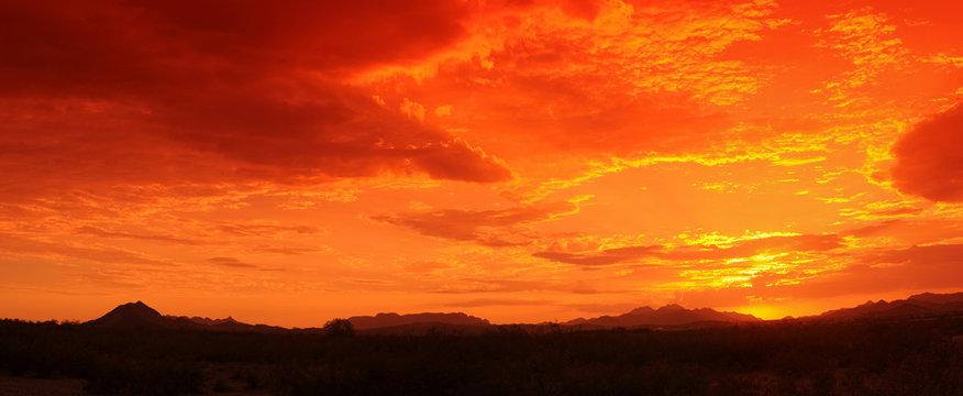 Red Sunset Panorama